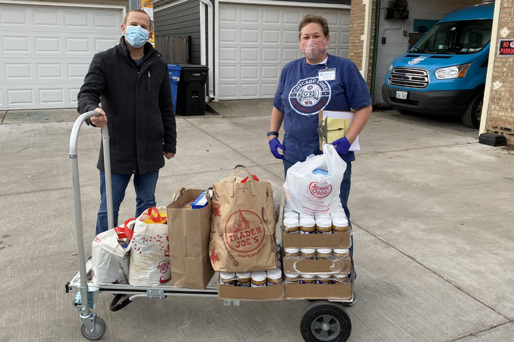 CRER Cares was happy to deliver 295 lbs of food collected at various sites across Chicago over the past week.  A special thanks to our partners who helped collect non-perishable food items: Fulton Grace, CRER and Cafe Deko.